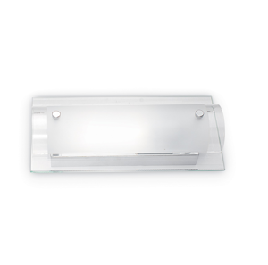 Picture of IDEAL LUX TUDOR AP1 RECTANGULAR WALL LAMP IN GLASS