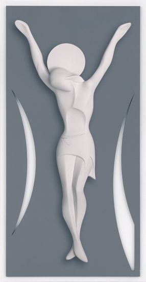 Picture of MEMORY MODERN WALL CRUCIFIX GREY