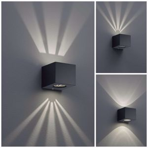 Picture of APPLIQUE PER ESTERNI IP44 RESISTENTE SALSEDINE CUBO PLASTICA NERO LED 4W 3000K