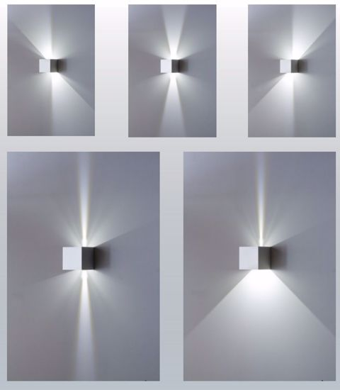 Picture of ISYLUCE OUTDOOR WALL LIGHT LED WHITE METAL CUBE  IP54 17W 3000K