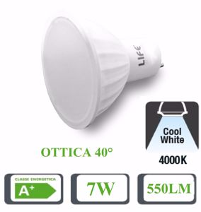 Picture of LIFE LAMPADINA LED GU10 7W 550LM OTTICA 40 GRADI 4000K 39.910234N