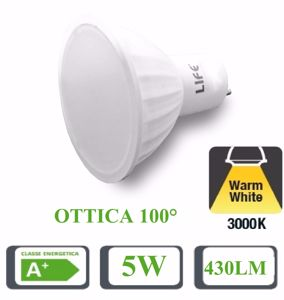 Picture of LIFE LED BULB LED GU10 5W 100&Deg; 3000K 420LM