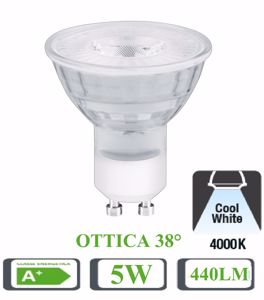 Picture of LIFE LED BULB LED GU10 5W 38&Deg; 4000K 440LM TRANSPARENT