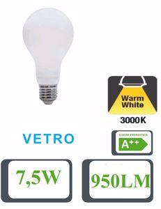 Picture of LIFE LAMPADINA LED 7.5W 3000K 950LM VETRO GOCCIA BIANCA FILAMENTO