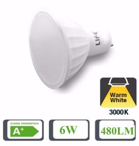 Picture of LIFE BULB LED GU10 6W 110&Deg; 3000K 450LM DIMMERABLE