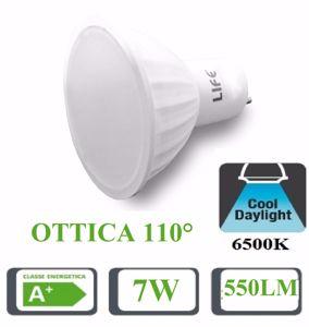 Picture of LIFE LAMPADINA LED GU10 BIANCA 7W 6500K 550LM OTTICA 110 39.910239F