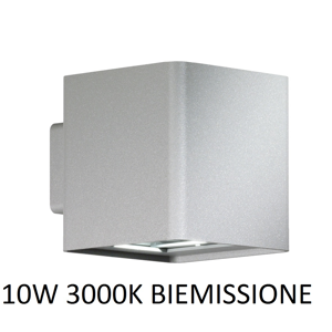 Picture of APPLIQUE DA ESTERNO CUBO LED 10W 3000K IP54 GRIGIO
