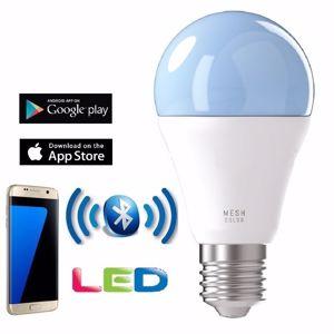 Picture of LAMPADINA E27 LED RGB 9W GOCCIA CONTROLLO TRAMITE APP BLUETOOTH