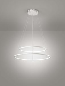 Picture of AFFRALUX ALURING LAMPADARI MODERNI LED 80CM 58W 3200K DOPPIO CERCHIO