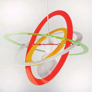 Picture of MODERN PENDANT LIGHT FOR CHILDREN'S ROOM GLOSSY MULTICOLOR