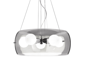 Picture of IDEAL LUX AUDI 10 PENDANT LAMP IN GLASS SP5 5 LIGHTS