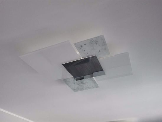 Picture of TOP LIGHT SHADOW CEILING LAMP 91CM SILVER LEAF