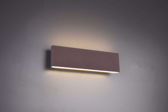 Picture of WALL LAMP RECTANGULAR LED 12W 3000K DIMMABLE MODERN DESIGN BROWN CORTEN