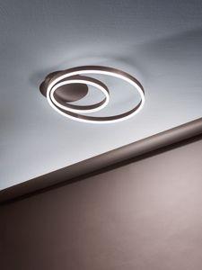 Picture of PLAFONIERA LED TRICOLOR 38W MARRONE CERCHI MODERNA PROMOZIONE