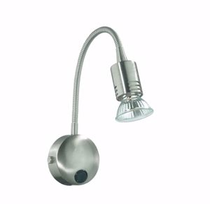 Picture of IDEAL LUX FLEX AP1 WALL LAMP WITH SPOTLIGHT NICKEL