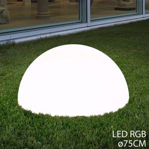 Picture of GRANDE LAMPADA DA ESTERNO LED 12W RGB DIAMETRO 75CM IP65 SEMISFERA DA GIARDINO