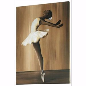 Picture of PINTDECOR BALLET WALL ART HAND-DECORATED EMBOSSED CANVAS WITH RESIN AND SILVER
