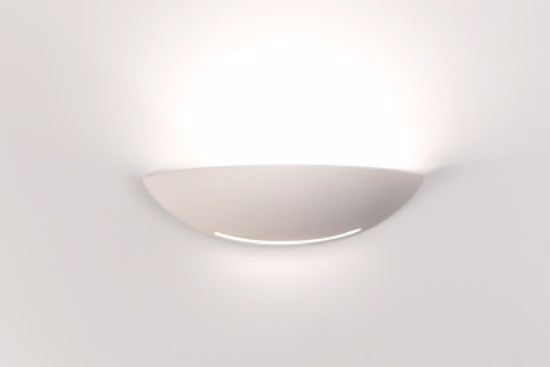 Picture of PLASTER WALL LIGHT 31CM WHITE PAINTABLE CERAMIC