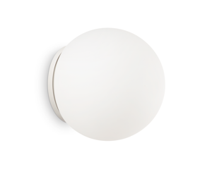 Picture of IDEAL LUX MAPA WALL LAMP WHITE GLASS SPHERE AP1 D30
