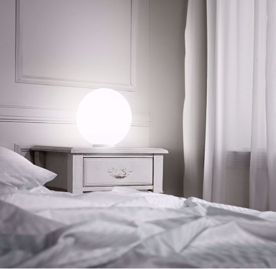 Picture of IDEAL LUX MAPA BEDSIDE LAMP WHITE SPHERE TL1 D20