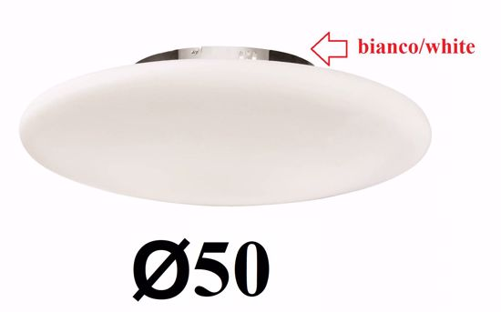 Picture of IDEAL LUX SMARTIES WHITE CEILING LAMP PL3 D50
