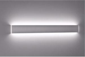 Picture of ISYLUCE APPLIQUE LED 88CM 36W 3000K RETTANGOLARE MODERNO METALLO BIANCO
