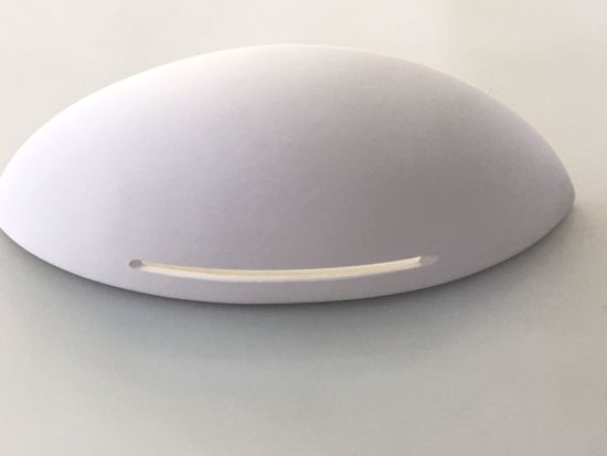 Picture of ISYLUCE PLASTER WALL LIGHT IN WHITE CERAMIC 36CM CAN BE DECORATED