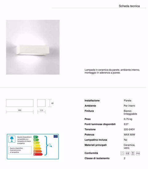 Picture of MODERN PLASTER WALL LIGHT WHITE CERAMIC PAINTABLE 30CM 1 LIGHT ISYLUCE 620