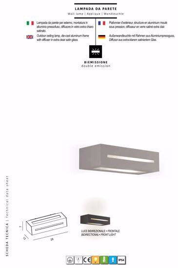 Picture of PROMOINGROSS GREY WALL LIGHT FOR MODERN OUTDOOR LIGHTING