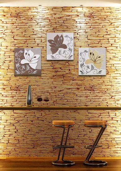 Picture of ARTITALIA ONLY LILY III HANDMADE WALL ART GLITTERING AND SILVER FOIL DETAILS