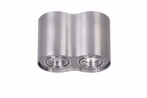 Picture of MODERN CEILING SPOTLIGHT 2 ROTATING LIGHTS IN SATIN NICKEL FINISH
