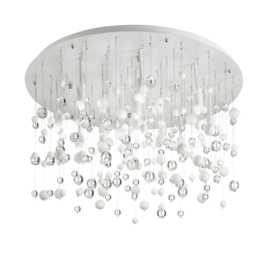Picture of IDEAL LUX NEVE PL12 WHITE CEILING LAMP WITH GLASS SPHERES 12 LIGHTS
