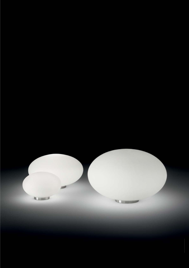 Picture of IDEAL LUX CANDY BEDSIDE LAMP TL1 D25 WHITE GLASS