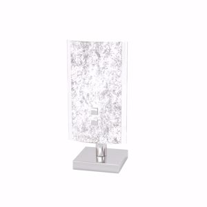 Picture of TOP LIGHT SHADOW BEDSIDE LAMP GLASS WITH SILVER LEAF DECORATION