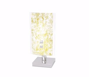 Picture of TOP LIGHT SHADOW  BEDSIDE LAMP GLASS WITH GOLD LEAF DECORATION