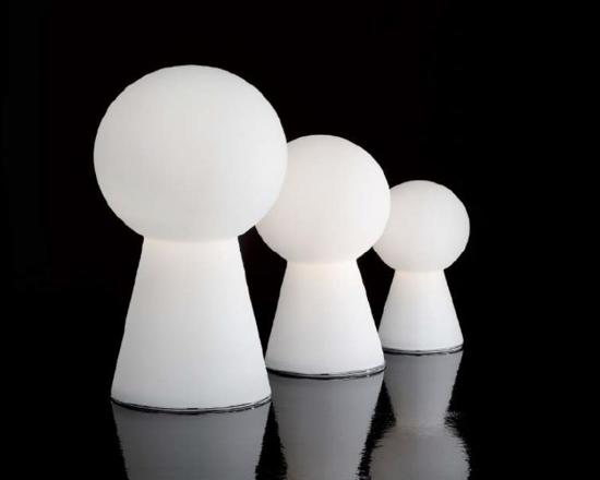 Picture of IDEALLUX BIRILLO TL1 SMALL TABLE LAMP IN WHITE GLASS