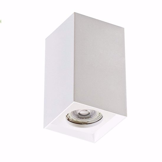 Picture of ISYLUCE CUBIC SPOTLIGHT IN WHITE GYPSUM PAINTABLE