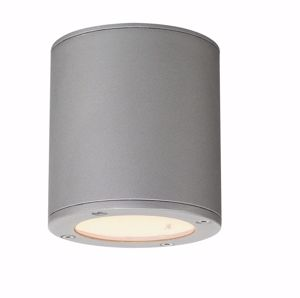 Picture of SMALL CEILING LED LAMP FOR OUTDOOR OR BATHROOM IP44 IN SILVER GREY COLOUR