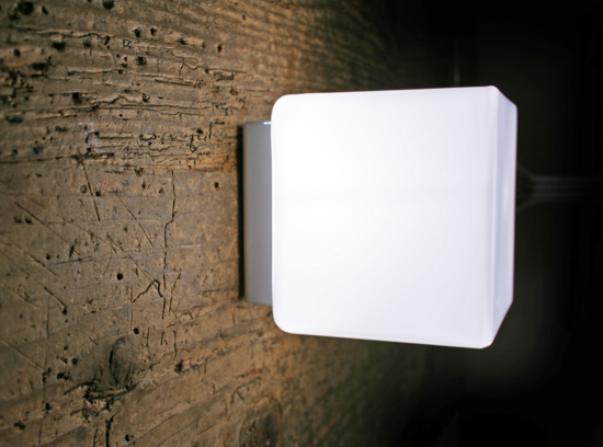 Picture of ANTEA LUCE KREA KUBO LED CUBE WALL CEILING 11CM 4.3W WHITE GLASS