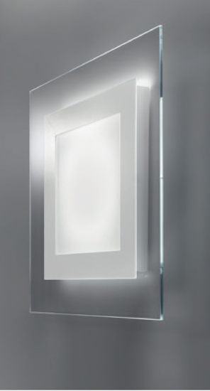 Picture of ANTEA LUCE SPACE CEILING WALL LAMP 30CM LED 13W SATIN GLASS