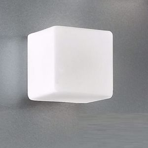 Picture of ANTEA LUCE KREA KUBO LED CUBE WALL CEILING GLASS 16CM 8,7W WHITE GLASS