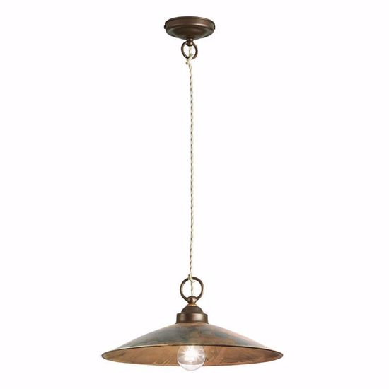 Picture of GIBAS RUA CM24 RUSTIC PENDANT LAMP IN METAL FABRIC WIRE