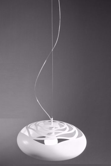 Picture of DIVISUAL DESERT ROSE DOME Ø50CM WHITE METAL