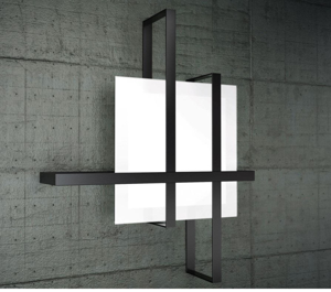 Picture of TOP LIGHT CROSS CEILING LAMP 99CM BLACK METAL AND GLASS