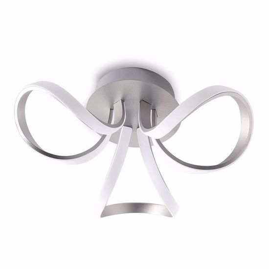 Picture of CEILING LAMP WHITE SILVER LED 36W 3000K 2850LM DIMMABLE