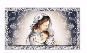 Picture of MANIE ART ABOVE BED 140X70 IN ECO-LEATHER WITH CHROME FRAME