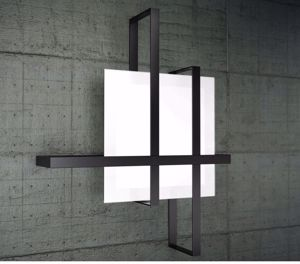 Picture of TOP LIGHT CROSS CEILING LAMP 51CM BLACK METAL AND GLASS