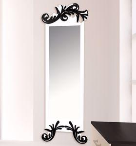 Picture of LAS CONTEMPORARY WALL MIRROR 60X180 MDF WHITE BLACK