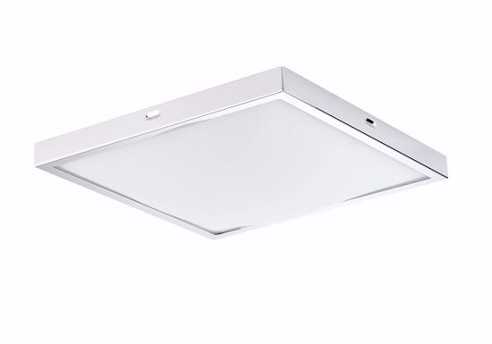 Picture of FABAS LUCE WHITE AND CHROME SQUARE CEILING LAMP OSAKA CM22