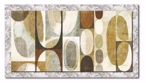 Picture of MANIE WALL ARTWORK ABSTRACT PRINT ON CANVAS 120X90 SILVER FRAME